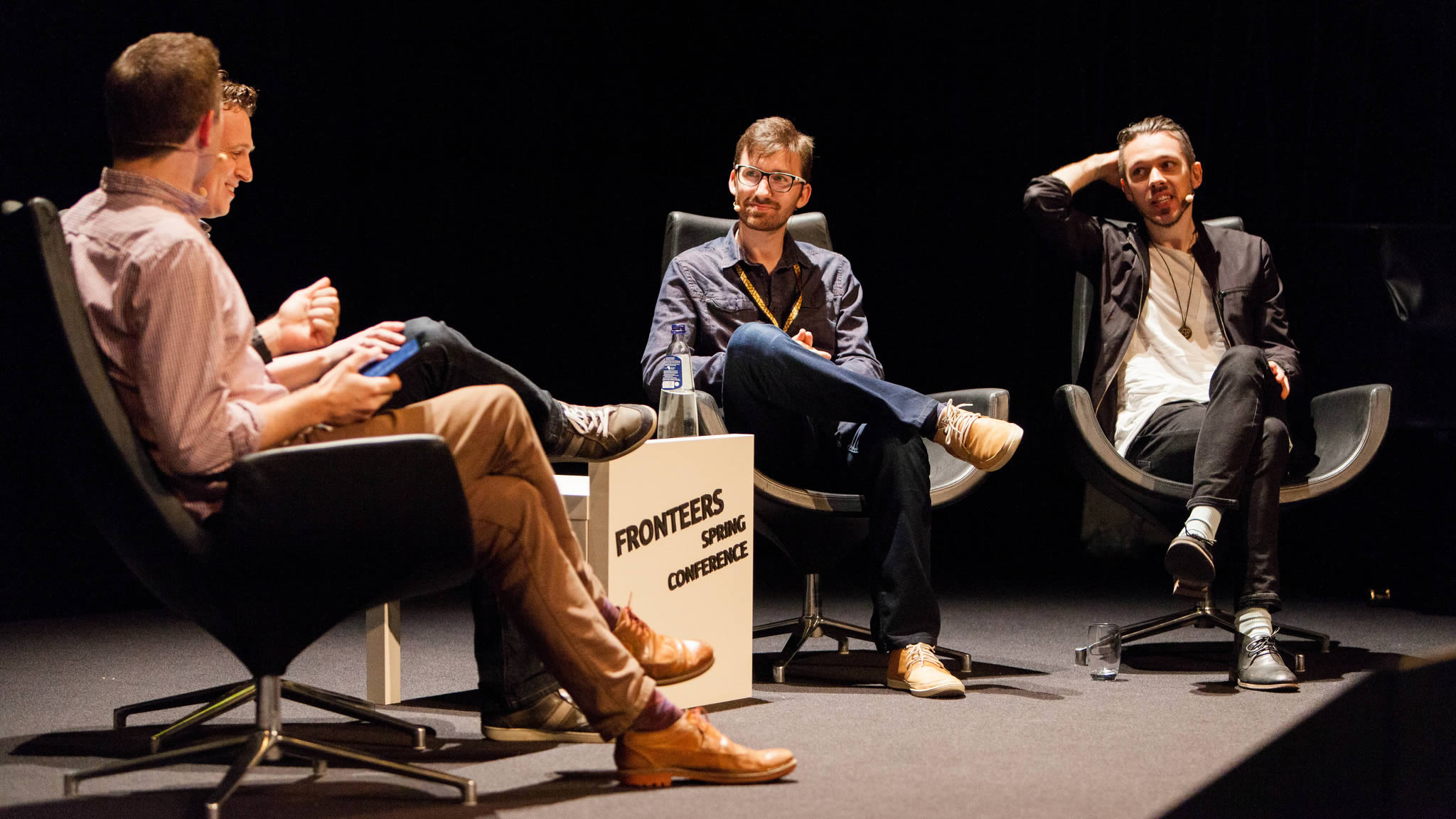 Panel discussion about Visual Performance - Hawksworth, Ahlin, Bakaus, Stein. Photo by Peter Peerdeman