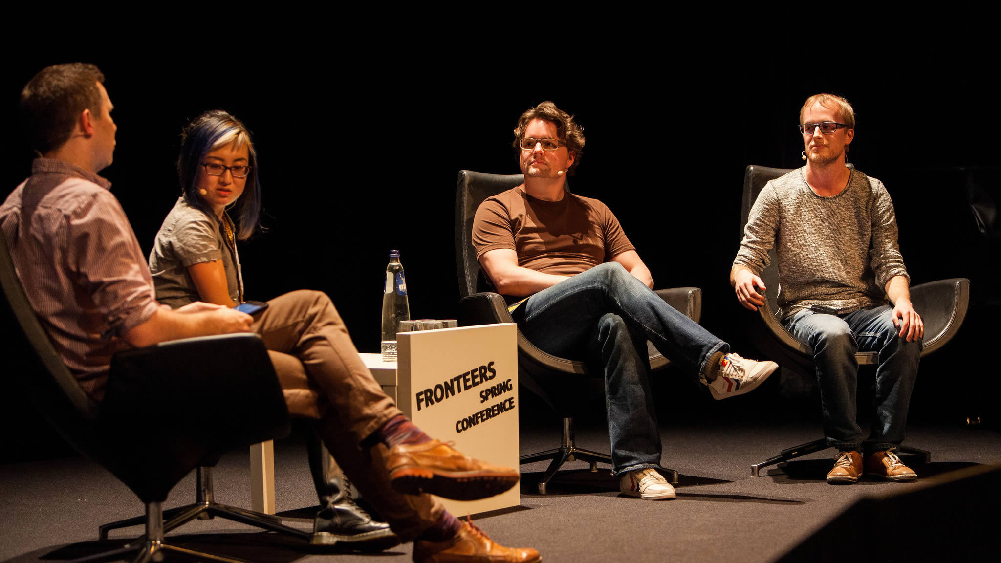 Panel discussion about Technical Performance - Hawksworth, Zhu, Bakaus, Bynens. Photo by Peter Peerdeman