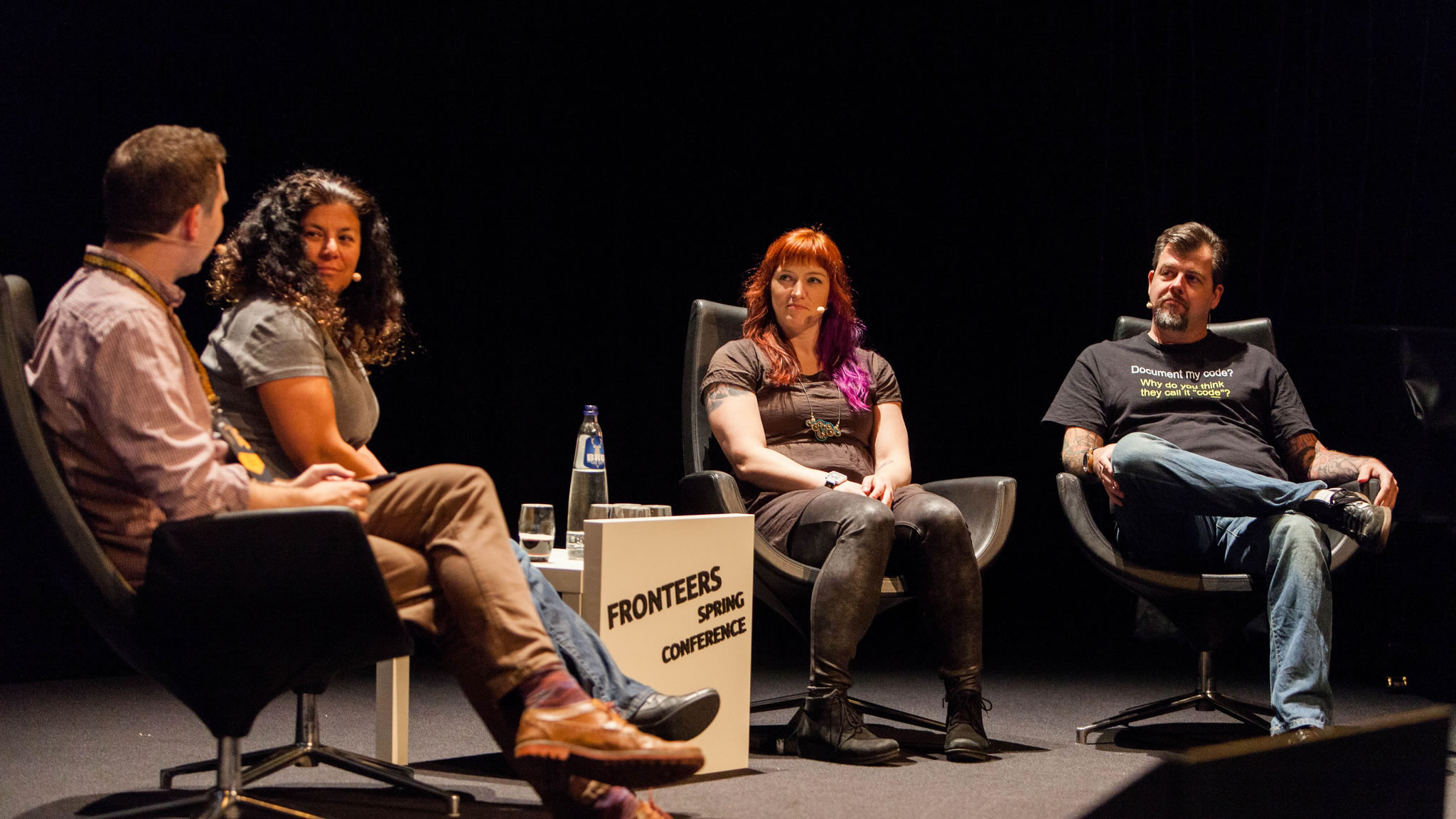 Panel discussion about Accessible Performance - Hawksworth, Weyl, Sutton, Groves. Photo by Peter Peerdeman